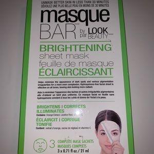 Masque Bar brightening sheet mask